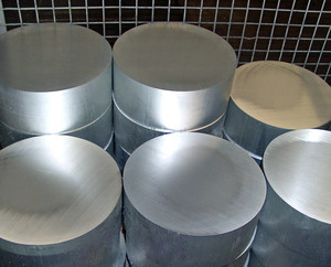 Aluminium cast round bars - ready-sawn