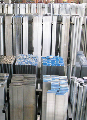 Aluminium square bars extruded