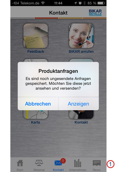 BIKAR-App 'Metal World' - Help iOS - Request reminder