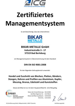DIN EN ISO 9001-2008 (Qualitätsmanagement)