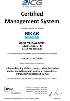 DIN EN ISO 9001-2008 (Quality Management System)