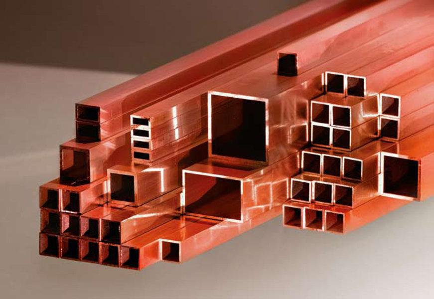 Kupfer Rechteckrohre Bikar Metalle