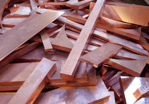 Solid copper waste