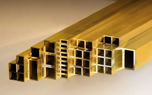 Brass rectangular tubes