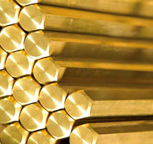 Brass hexagon bars