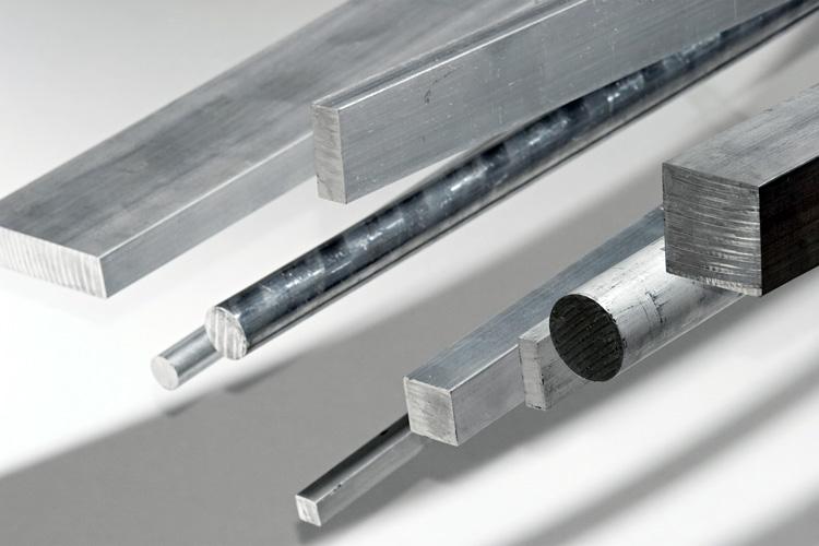 Extruded twisted bars : Aluminium square bars extruded bikar metalle